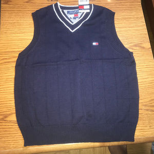 Tommy Hilfiger blue sweater vest boys 7 NWT